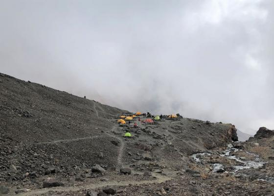 Ascenso Cerro Vallecitos   Campamento El Salto
