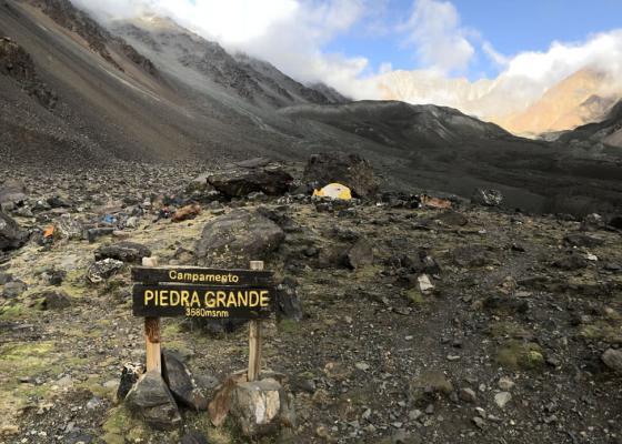 Ascenso Cerro Vallecitos   Campamento Piedra Grande