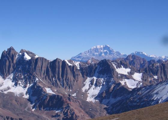 Ascenso Cerro Vallecitos   Cordillera de los Andes